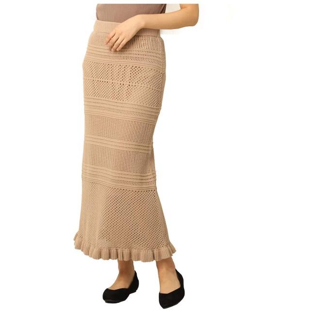 HONEYS ハニーズ 透かし編みニットスカート レディース