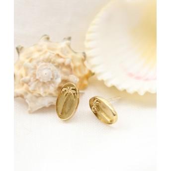 (BAYFLOW/ベイフロー)【chibi jewels (チビ・ジュエルズ)】パームメダルゴールドピアス/ [.st](ドットエスティ)公式