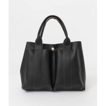 [ロデスコ] 鞄 トートバッグ MIINA ダブルポケットトート レディース BLACK one