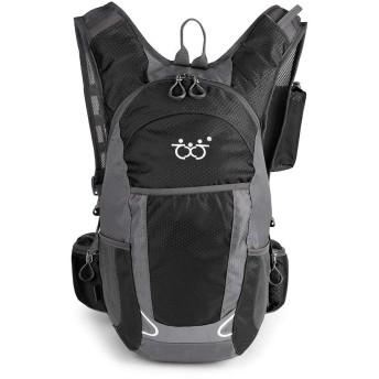 Rayiisuy 登山 リュック転車 旅行 ハイキング デイパック バックパック 通気性 30L アウトドア リュック サイクリングバッグ 防災 防撥水 リュックサック 多機能 軽量トレッキング 自転車 (ブラック)