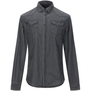 《セール開催中》ARMANI JEANS メンズ デニムシャツ グレー S コットン 100%
