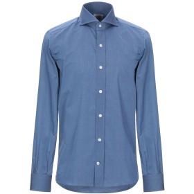 《期間限定セール開催中!》MAZZARELLI メンズ シャツ ブルー 39 コットン 100%