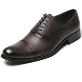 [アラモーダ] 日本製 ビジネスシューズ 本革 メンズ 革靴 紳士靴 内羽根ストレートチップ 1183 ダークブラウン 25.5cm