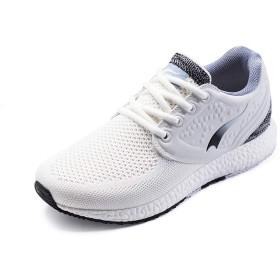 [JP-ONEMIX] レディース レースアップ スポーツ ジョギング 編み クッション スニーカー 靴 35EU 足の長さ 220mm ホワイトブラック