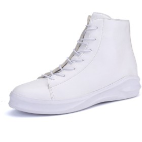 [QIFENGDIANZI]メンズ ブーツ スニーカー ショートブーツ スニーカー ジャングルブーツ スニーカー オックスフォードシューズ 作業靴 ハイカット 大きいサイズ デイリー アウトドア カジュアル 保温 防寒 秋冬 クリスマス  白 26.0cm