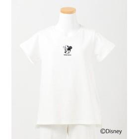 エニィファム(キッズ) OYAKO DE ディズニーコレクション Tシャツ レディース ホワイト系 140~150cm 【anyFAM KIDS】