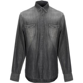 《期間限定セール開催中!》MACCHIA J メンズ デニムシャツ ブラック 41 コットン 100%