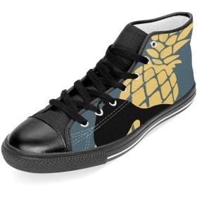 [Asgasdvcx] パイナップル サングラス ハイカット メンズブーツ 紳士靴 ショートブーツ ワークブーツ アウトドアシューズ フラットシューズ カジュアルシューズ レースアップ スニーカー 春 秋 おしゃれ Black 42