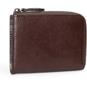 (ポヨリー) POYOLEE 財布 メンズ L字ファスナー財布 小さい 本革 小銭入れ レディース コンパクト財布 二つ折り ミニ財布 コインケース コーヒー