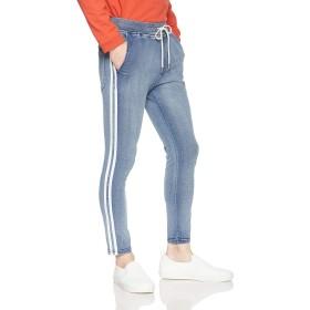 [ウィゴー] WEGO カット デニム ライン スキニー パンツ S インディゴ 淡色 メンズ