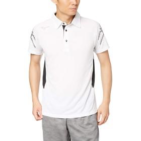 [Mizuno] トレーニングウェア ポロシャツ 半袖 スタンダード 吸汗速乾 32MA9170 ホワイト×ブラック 日本 2XL (日本サイズ3L相当)