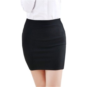 YINUO ミニ タイトスカート スカートスーツ レディース ビジネス きれいめ ファッション 大きいサイズあり 黒 通勤 オフィス スーツ 用ブラック4XL
