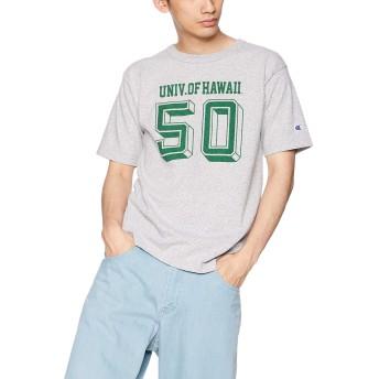 [チャンピオン] T1011 US Tシャツ MADE IN USA C5-P303 メンズ Oグレー×グリーン 日本 L (日本サイズL相当)
