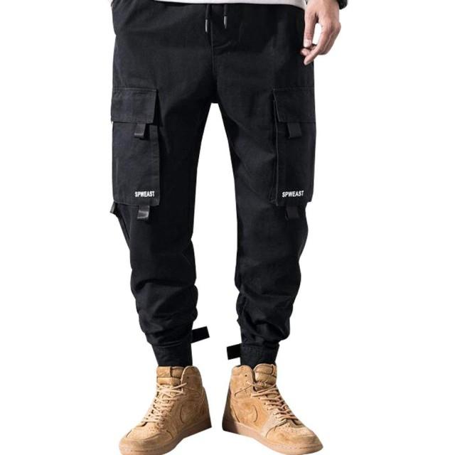 SHUOSENジョガーパンツ メンズ スウェット サルエル カーゴ スキニー テーパード ワーク ゆったり ロングパンツ 大きサイズ