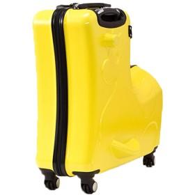 Plus Nao(プラスナオ) スーツケース キャリーケース キャリーバッグ トランク 子供乗れる らくらく旅行 TSA付き TSAロック TSA認証のカギ - イエロー