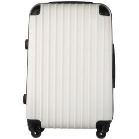 【レセナ】RESENA スーツケース 超軽量 キャリーケース ファスナー ABS 静音キャスター おしゃれ かわいい 旅行 出張 … (S サイズ_ダイヤルロック, ホワイト)