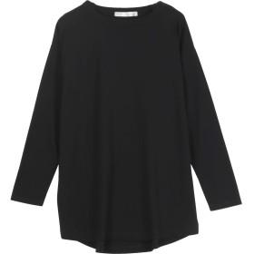 [神戸レタス] レディース シンプル コットン ロング Tシャツ 長袖 [C3730] ワンサイズ(M) ブラック