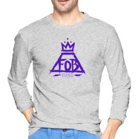 Tシャツ メンズ 長袖 おしゃれ フォール・アウト・ボーイ Fall Out Boy Fund プリント グレー