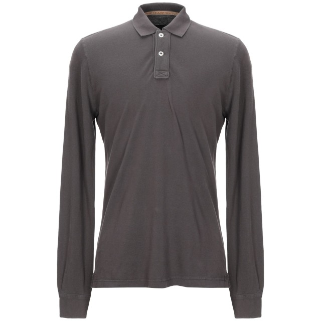 《期間限定セール開催中!》ELEVENTY メンズ ポロシャツ カーキ L コットン 100%