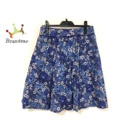 マッキントッシュフィロソフィー スカート サイズ38 L レディース 美品 花柄/プリーツ  値下げ 20191016