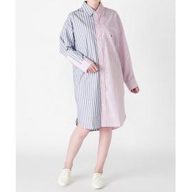 <my panda> Half & Half Shirt NAVYxPINK 【三越・伊勢丹/公式】