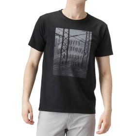 Navy(ネイビー) プリントクルーネックTシャツ 半袖Tシャツ プリントTシャツ EJ193-MC160 メンズ ブラック:L
