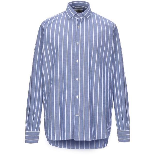 《期間限定セール開催中!》BROOKSFIELD メンズ シャツ パステルブルー 42 コットン 100%