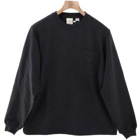 [グッドウェア] ロンT 無地 Tシャツ メンズ 長そで 長袖 ポケット ポケットつき グッドウェアー goodwear ホワイト ブラック ネイビー BLACK Sサイズ