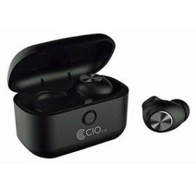 Bluetooth 5.0 防水 完全ワイヤレスイヤホン BT-EPQIA9 Qiワイヤレス充電対応 ノイズキャンセリング ブラック