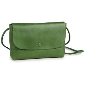 [サクラ] SACURA レザー お財布ショルダー 日本製 Mサイズ … (グリーン)
