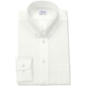 ワイシャツ 軽井沢シャツ [A10KZBA26]ボタンダウン ラウンド ホワイトドビー柄 らくらくオーダー受注生産商品