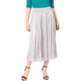 (ノーリーズ ソフィー) NOLLEY'S sophi 【WEB限定色】パールサテンギャザースカート 9-0030-2-06-011 36 ライトグレー