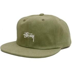 (ステューシー) STUSSY STOCK WASHED CANVAS CAP キャップ メンズ 帽子 ストリート スナップバック フリーサイズ サイズ調整可能 (OLIVE) [並行輸入品]