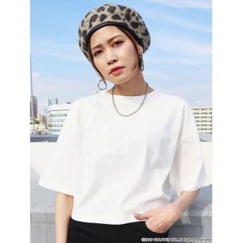 エモダ EMODA ラインロゴTシャツ (ホワイト)