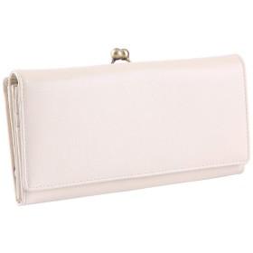 [レガーレ] がま口 長財布 BOX型コインケース レディース 本革 大容量収納 (アイボリー)