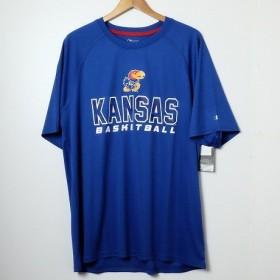 Champion USA 【チャンピオン】・NCAA・S/S-Tshirt カレッジプリント半袖Tシャツカンザス大学 ブルー L
