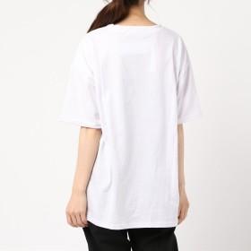 Tシャツ - G & L Style レディース 半袖 トップス カットソー シンプル カジュアル 半袖Tシャツ THIEVESロゴTシャツ