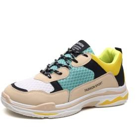 [チャンピオン靴店] 男性用軽量エアクッションランニングシューズ快適なファッションスニーカー用アスレチックジムスポーツ 24.5cm 黄