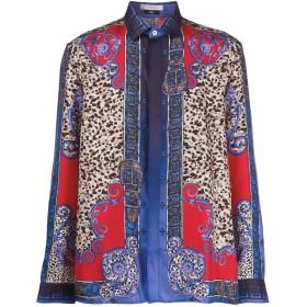 Versace Collection レオパード シャツ - ブルー