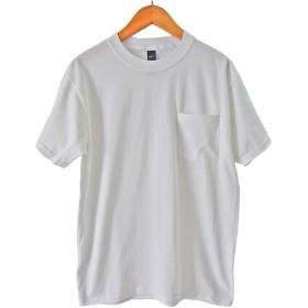 (ヘインズ) HANES BEEFY TEE POCKET ヘインズ メンズ ポケットTシャツ 5190p ビーフィー [並行輸入品] (L, ホワイト)