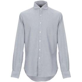 《期間限定セール開催中!》PORTOFIORI メンズ シャツ ダークブルー 42 コットン 100%