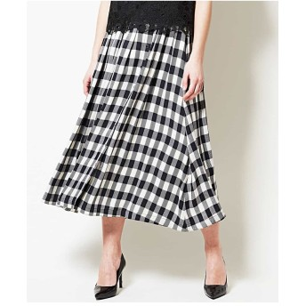 CHRISTIAN AUJARD 【日本製】リオペルギンガムスカート その他 スカート,ブラック
