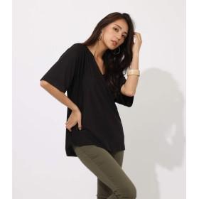[アズールバイマウジー] tシャツ ESPANDY BACK TWIST TOPS 250CSH80-420E M ブラック レディーズ