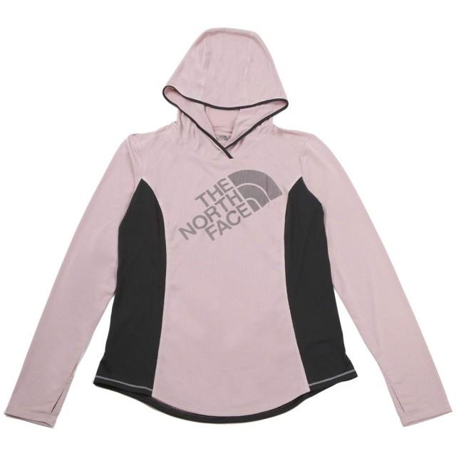 ザ・ノースフェイス W24/7 HOODIE ストレッチパーカー フード付きシャツ インナー (S, BURNISHED-LILAC)