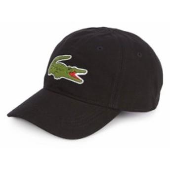 ラコステ メンズ 帽子 アクセサリー Big Croc Gabardine Cap Black