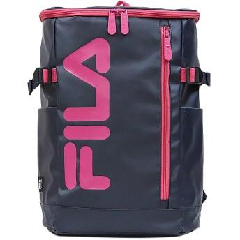 カバンのセレクション フィラ FILA リュック レディース メンズ スクエア 21L 通学 大容量 おしゃれ 女子 ピンク 高校 新作 7576 ユニセックス ネイビー系2 フリー 【Bag & Luggage SELECTION】