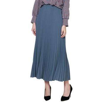 レディース プリーツスカート フレア スカート マキシスカートマキシ ロングスカート (80CM, 水色(baby blue))