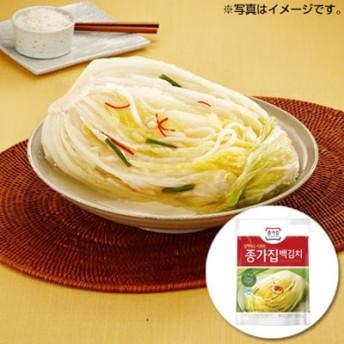 【当店おすすめ】【冷蔵】『宗家』白キムチ|白白菜キムチ・甘口(500g) チョンガ 白菜キムチ 韓国キムチ 韓国おかず 韓国食材 韓国料理 韓国食品