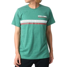 [セブンティーシックス] Tシャツ パネル プリント 半袖 メンズ グリーン M