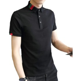chenshiba-JP Men Casual Classic Summer Tops Blouse Cotton Short Sleeve Polo Shirts 3 M